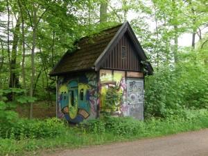 Graffiti im Wandsbeker Gehölz